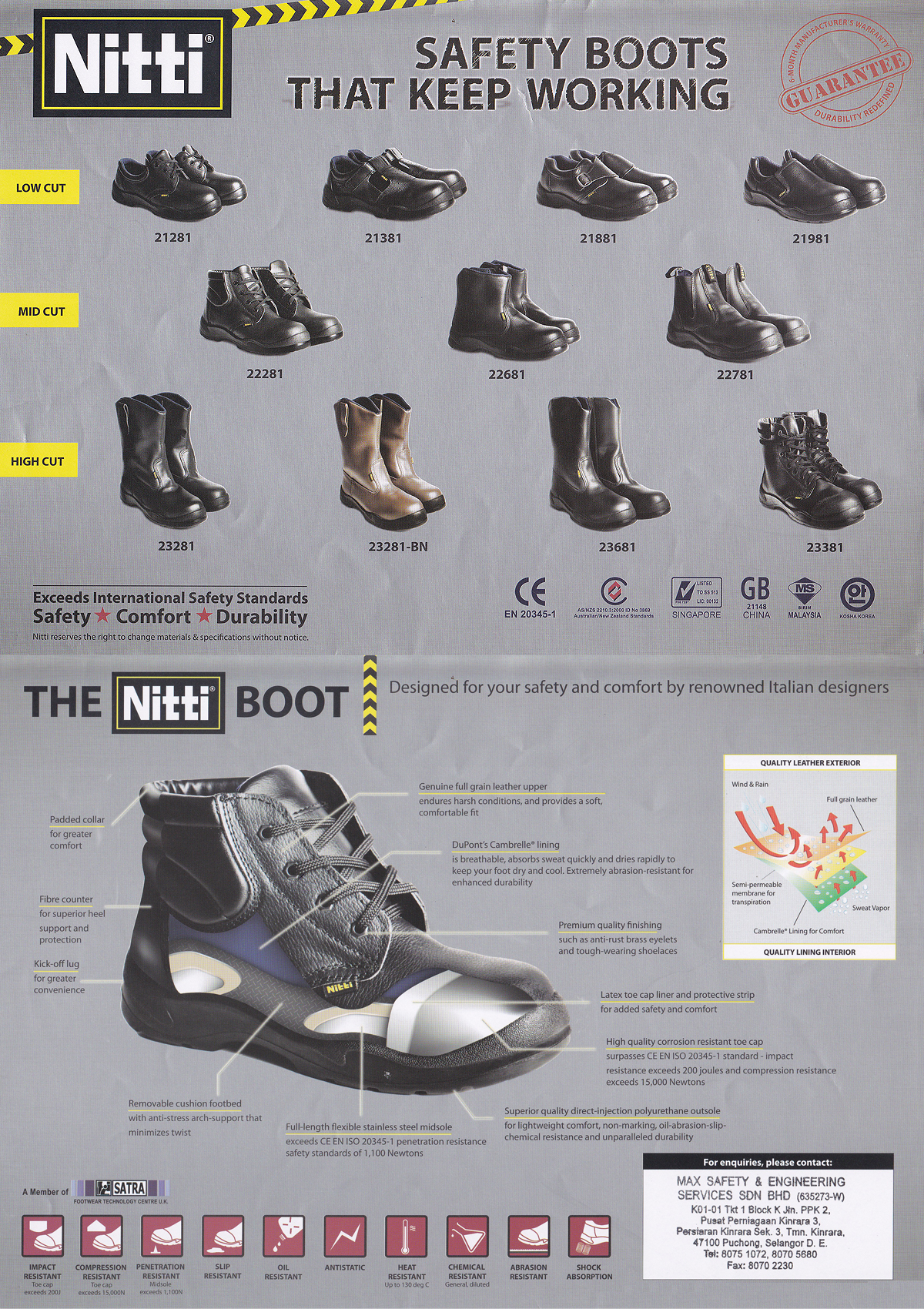 Nitti Safety Shoes Max Safety Amp Engineering Services