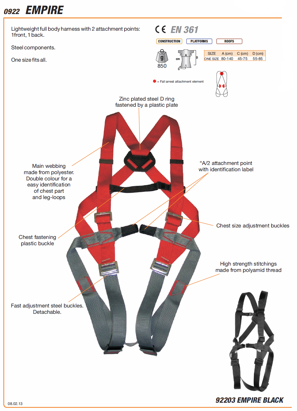 Camp 922 Empire Harness Max Safety Amp Engineering